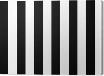 Tableau sur toile Les lignes diagonales de motif noir et blanc