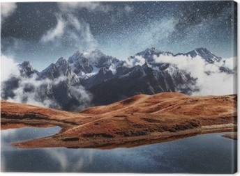 Tableau sur toile Les montagnes du Caucase en Géorgie