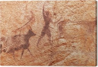 Tableau sur toile Les peintures rupestres du Tassili N'Ajjer, en Algérie