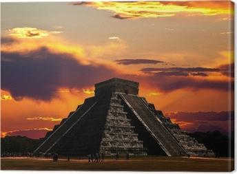 Tableau sur toile Les temples de chichen itza temple au Mexique