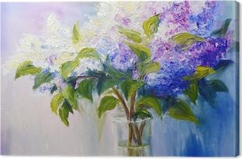 Tableau sur toile Lilas dans un vase, peinture à l'huile sur toile