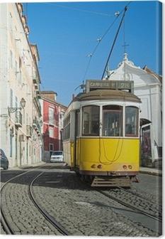 Tableau sur toile Lisbonne : Tram Jaune - Ligne 28