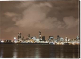 Tableau sur toile Liverpool artifice Panorama sur la Saint-Sylvestre