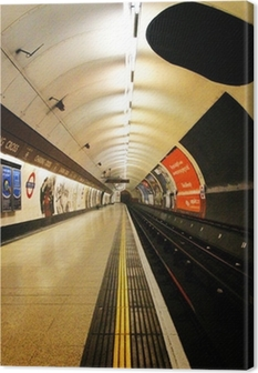 Tableau sur toile Londres plate-forme de métro