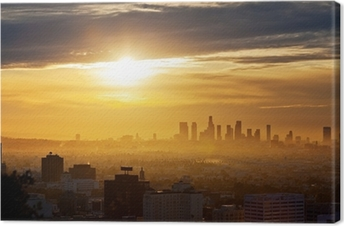 Tableau sur toile Los Angeles lever du soleil