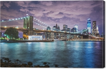 Tableau sur toile Lumières de New York City