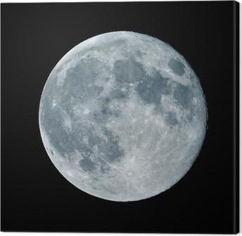 Tableau sur toile Lune de nuit nocturne