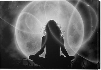 Tableau sur toile Lune méditation