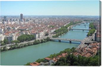 Tableau sur toile Lyon ville panorama