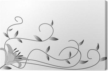 Tableau sur toile Lys noir et blanc