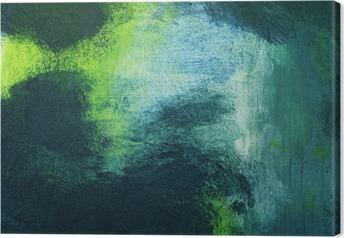 Tableau sur toile Macro de la peinture, abstraite colorée