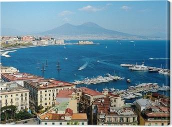 Tableau sur toile Magnifique vue panoramique de Naples avec le Vésuve