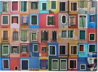 Tableau sur toile Maisons de pêcheurs à Burano près de Venise