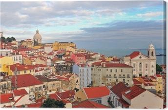 Tableau sur toile Maisons multicolores de Lisbonne