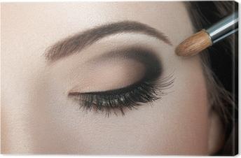 Tableau sur toile Make-up. Maquillage des sourcils. Yeux