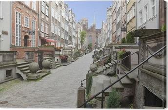 Tableau sur toile Mariacka rue dans la vieille ville de Gdansk, en Pologne
