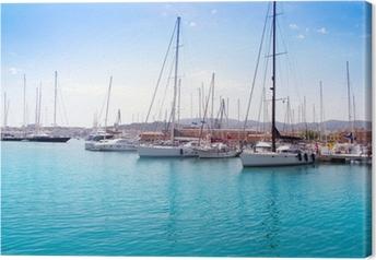 Tableau sur toile Marina port de Palma de Majorque à Îles Baléares