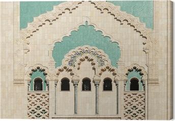 Tableau sur toile Maroc. Détail de la Mosquée Hassan II à Casablanca