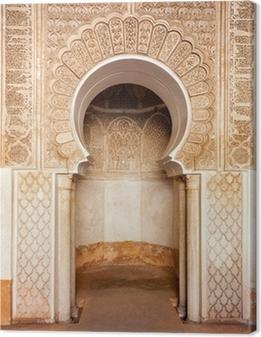 Tableau sur toile Marrakech médersa ornement