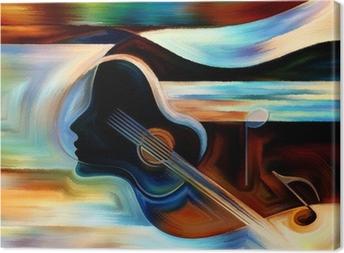 Tableau sur toile Matériel de Musique