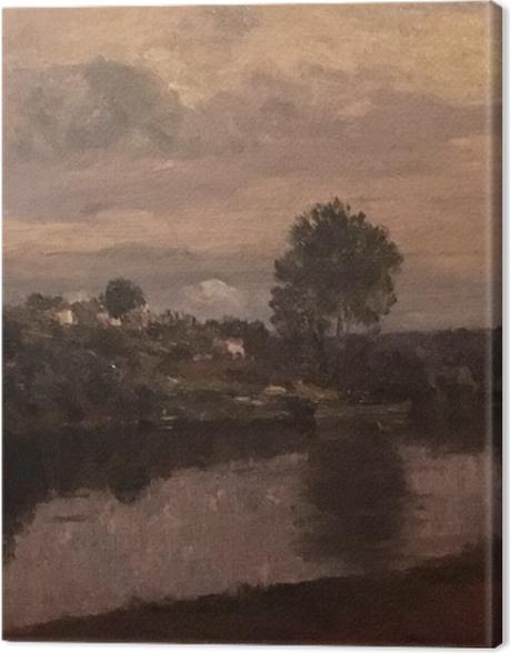 Tableau sur toile Matthijs Maris - Figure au bord du lac - Reproductions