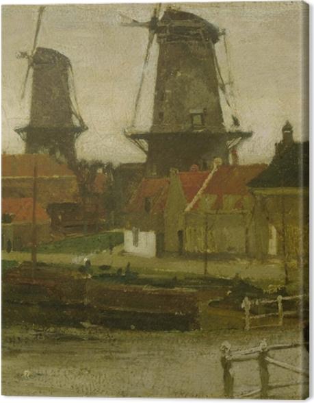 Tableau sur toile Matthijs Maris - Un coin de la Haye - Reproductions
