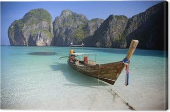 Tableau sur Toile Maya Bay, Koh Phi Phi Ley, Thaïlande.