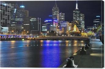 Tableau sur toile Melbourne ma Skyline und Yarra River