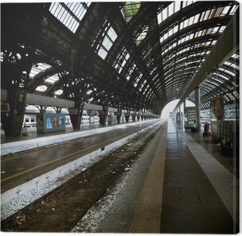 Tableau sur toile Milan l'architecture de la station