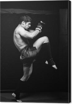 Tableau sur toile MMA - artiste martial mixte avant un combat