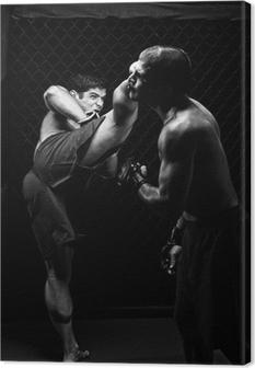 Tableau sur toile MMA - Mixed arts martiaux de défense - coups de pied