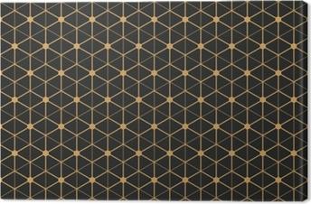Tableau sur toile Modèle de papier peint sans couture art déco