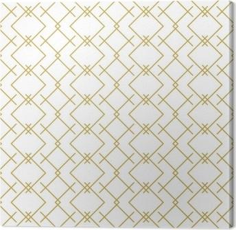 Tableau sur toile Modèle élégant linéaire géométrique vectorielle continue en or