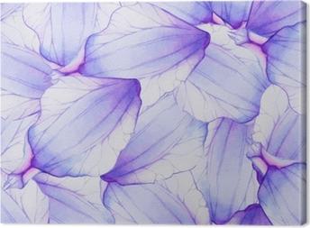 Tableau sur toile Modèle sans couture aquarelle avec pétale de fleur pourpre