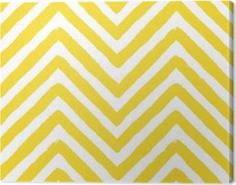 Tableau sur toile Modèle sans couture de vecteur chevron jaune