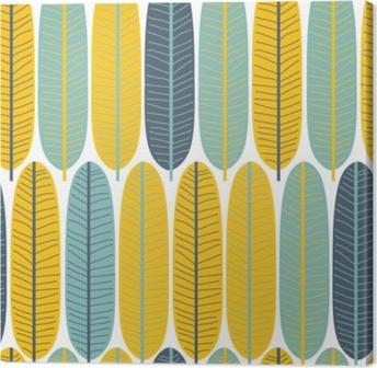 Tableau sur toile Modèle sans couture mignon feuilles tropicales. Tissu parfait. illustration de vecteur dessinés à la main.
