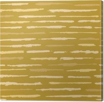 Tableau sur toile Modèle vectorielle continue texture rustique grunge rayures. lignes texturées rugueuses fond illustration pour la décoration tendance, impression de mode, papier peint, textile. jaune moutarde écru naturel moucheté