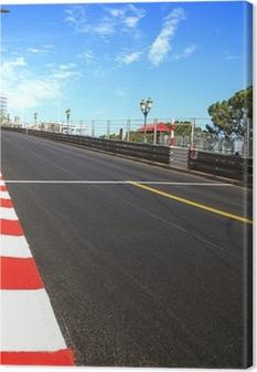 Tableau sur toile Monaco, Monte Carlo. asphalte de course, circuit du Grand Prix