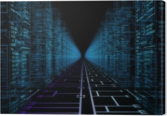 Tableau sur toile Mondiale Hacker