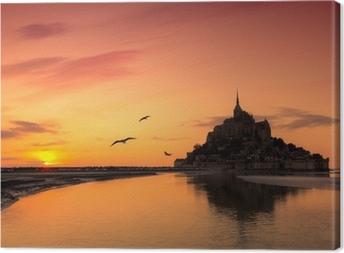 Tableau sur toile Mont Saint Michel, France