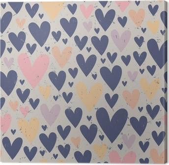 Tableau sur toile Motif coeur transparent