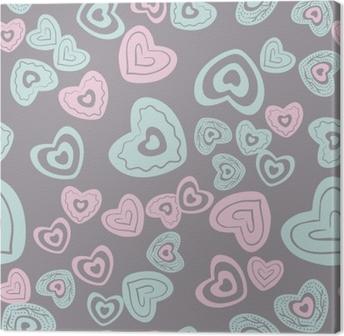 Tableau sur toile Motif de coeur sans soudure