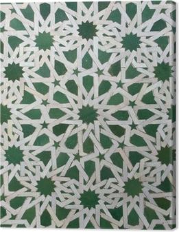 Tableau sur toile Motif de tuile zellige marocain