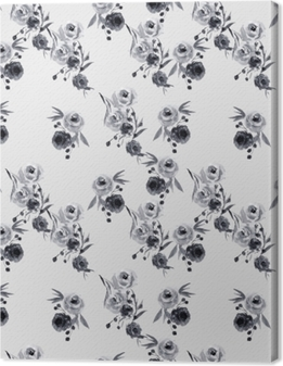 Tableau sur toile motif floral Minimaliste - Nina Ho