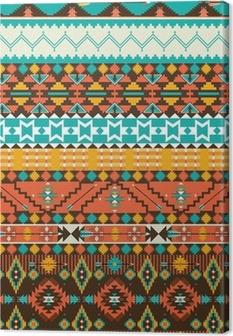Tableau sur toile Motif géométrique navajo transparente