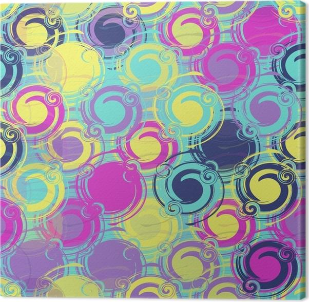 tableau sur toile motif multicolore color sans soudure partir d 39 l ments ronds mod les pour. Black Bedroom Furniture Sets. Home Design Ideas