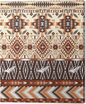 Tableau sur toile Motif tribal géométrique aztèque coloré transparente