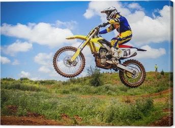 Tableau sur toile Motocross rider
