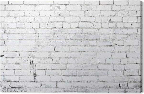 tableau sur toile mur brique blanc pixers nous vivons pour changer. Black Bedroom Furniture Sets. Home Design Ideas