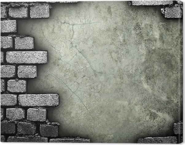 tableau sur toile mur de briques avec le trou pixers nous vivons pour changer. Black Bedroom Furniture Sets. Home Design Ideas